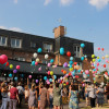 Lâcher de ballons de la fête d'été 2017